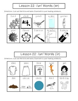1st Grade Journeys Lesson 22 Interactive Notebook Pages
