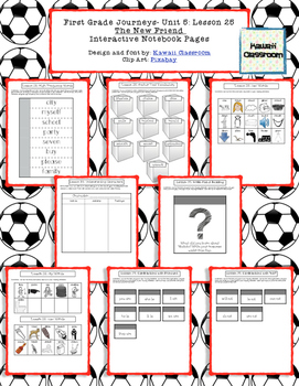 1st Grade Journeys Lesson 25 Interactive Notebook Pages
