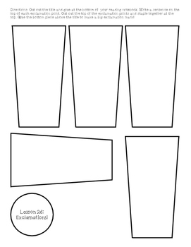 1st Grade Journeys Lesson 26 Interactive Notebook Pages