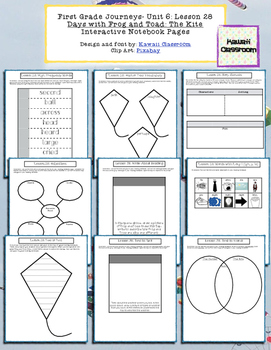 1st Grade Journeys Lesson 28 Interactive Notebook Pages
