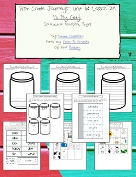 1st Grade Journeys Lesson 29 Interactive Notebook Pages