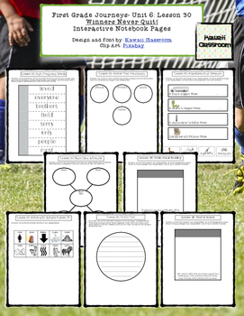 1st Grade Journeys Lesson 30 Interactive Notebook Pages