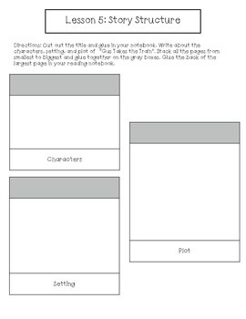 1st Grade Journeys Lesson 5 Interactive Notebook Pages