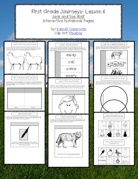 1st Grade Journeys Lesson 6 Interactive Notebook Pages