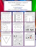 1st Grade Journeys Lesson 9 Interactive Notebook Pages
