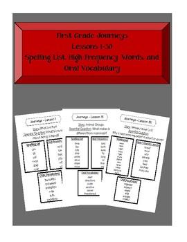 1st Grade Journeys Lessons 1-30