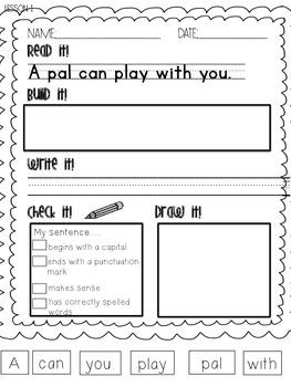 1st Grade Journeys Phonics Read it Build it Write it Unit 1 Lesson 1
