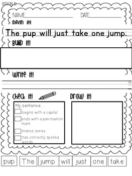 1st Grade Journeys Phonics Read it Build it Write it Unit 2 Lessons 10