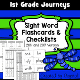 1st Grade Journeys Sight Word Flashcards and Checklists
