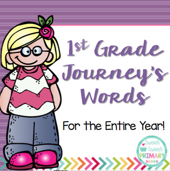 1st Grade Journey's Spelling Words and High Frequency Words
