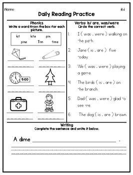 1st Grade Journeys Spiral Daily Reading Practice: Unit 4
