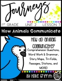 1st Grade Journeys Supplement {Unit 2, Lesson 7, How Animals Communicate}