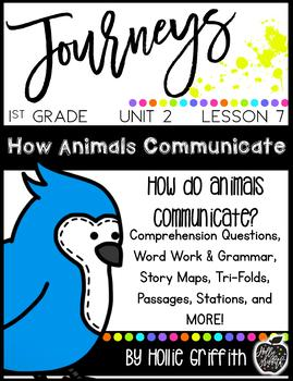 1st Grade Journeys Supplement {Unit 2, Lesson 7, How Animals Communicate}