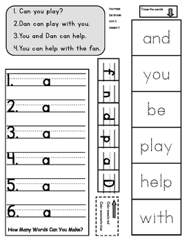 1st Grade Journeys Unit 1 Common Core Interactive Notebook Pages
