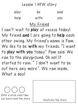 1st Grade Journeys Unit 1, HFW Stories