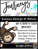 1st Grade Journeys: Unit 1, Lesson 3, Curious George at School