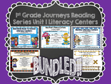 1st Grade Journeys Unit 1 Literacy Centers Bundle
