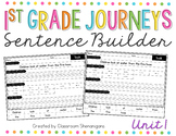 1st Grade Journeys Unit 1 Sight Words Sentence Builder