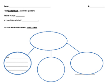 1st Grade Journeys Unit 2 Decodable Reader Comprehension Response Page