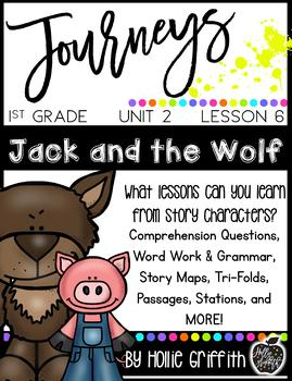1st Grade Journeys Supplement {Unit 2, Lesson 6, Jack and the Wolf}