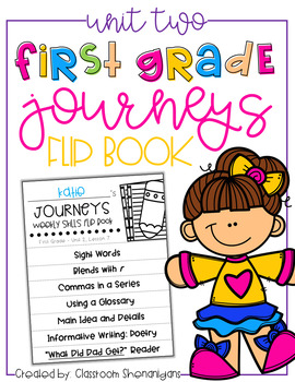 1st Grade Journeys Unit 2 Weekly Skills Flip books