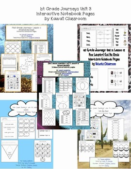 1st Grade Journeys Unit 3 Interactive Notebook Pages