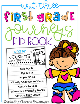 1st Grade Journeys Unit 3 Weekly Skills Flip books