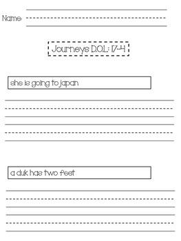 1st Grade Journeys Unit 4 Daily Fix Its (D.O.L)