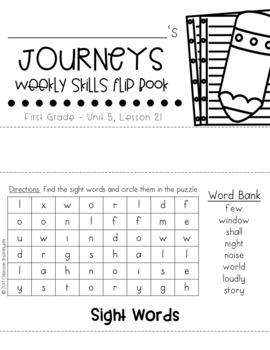 1st Grade Journeys Unit 5 Weekly Skills Flip books