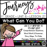 Journeys 1st Grade {Unit 6, Lesson 27, What Can You Do?}