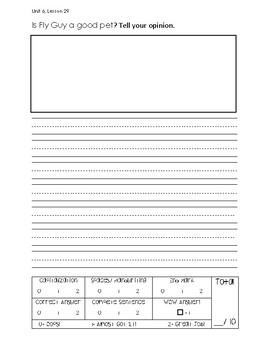 1st Grade Journeys Unit 6 Writing Test