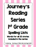 1st Grade Journeys- WHOLE SERIES- Spelling Lists