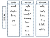 1st Grade Journeys Word Lists - Editable
