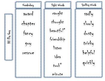 1st Grade Journeys Word Lists - Editable
