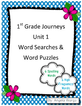 1st Grade Journeys Word Searches & Puzzles – Unit 1