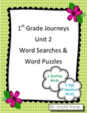 1st Grade Journeys Word Searches & Puzzles – Unit 2