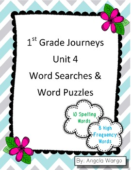 1st Grade Journeys Word Searches & Puzzles – Unit 4