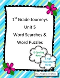 1st Grade Journeys Word Searches & Puzzles – Unit 5