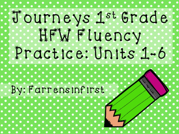 1st Grade Journeys Word Wall Word Fluency Units 1-6