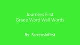 1st Grade Journeys Word Wall Words