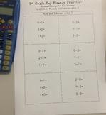 1st Grade Key Fluency Practice