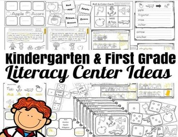 Kindergarten-1st Grade Literacy Center [UNIT A] NO PREP!!