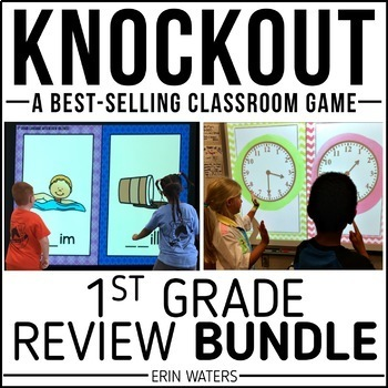 1st Grade Knockout End of Year Review BUNDLE {Math & Language Arts}