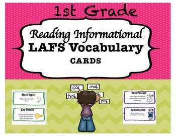 1st Grade LAFS Reading Informational Vocabulary Cards