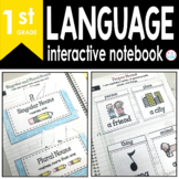 1st Grade LANGUAGE Interactive Notebook {Common Core Aligned}