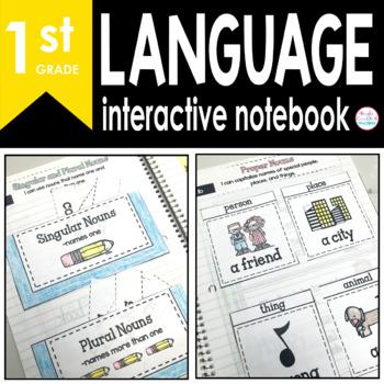 1st Grade LANGUAGE Interactive Notebook {Common Core Aligned}