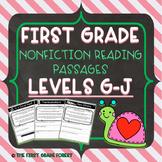 1st Grade: *LEVELED* Nonfiction Reading Passages & Questions (Levels G-J)