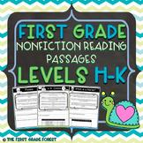 1st Grade: *LEVELED* Nonfiction Reading Passages & Questions (Levels H-K)