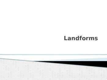 1st Grade Landforms PowerPoint {FREEBIE!}