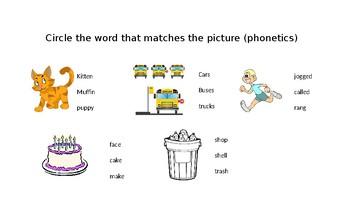 1st Grade Language Arts Assessment